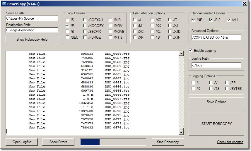 PowerCopy - PowerShell Robocopy GUI Tool