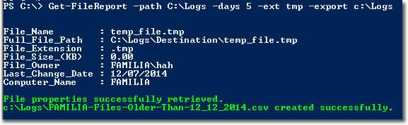 Function Get-FileReport